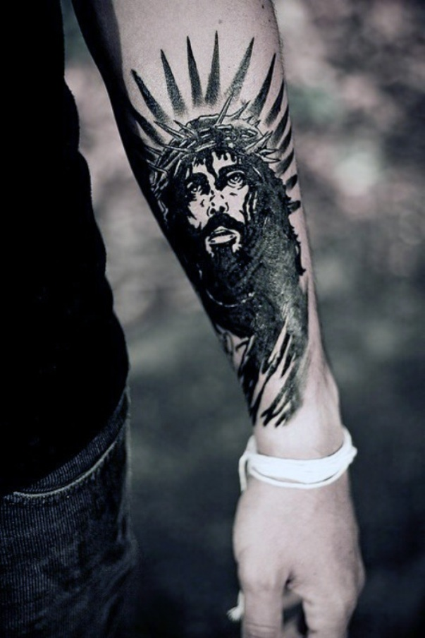 Jesus-Tattoo-On-Arm-TD2422